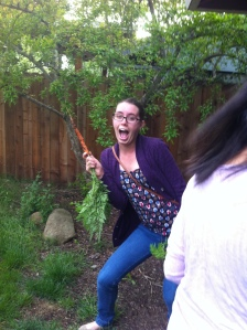"""""""Look at this giant carrot!"""" -Jenn"""