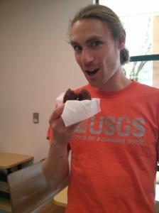Will enjoying his donut!